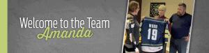 Welcome to the team Amanda