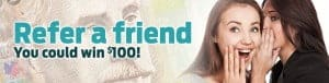 Refer a friend, you could win